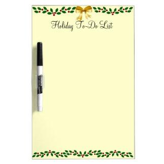 Holiday Holly Dry Erase Board