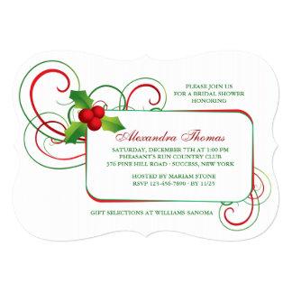 Holiday Holly Invitation