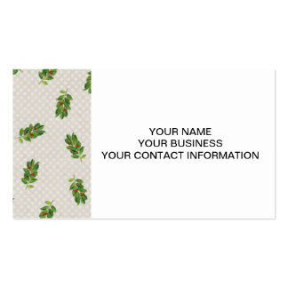 Holiday Holly Pattern Business Card Templates