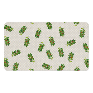 Holiday Holly Pattern Business Cards