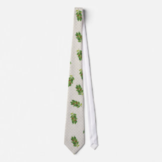 Holiday Holly Pattern Neck Tie