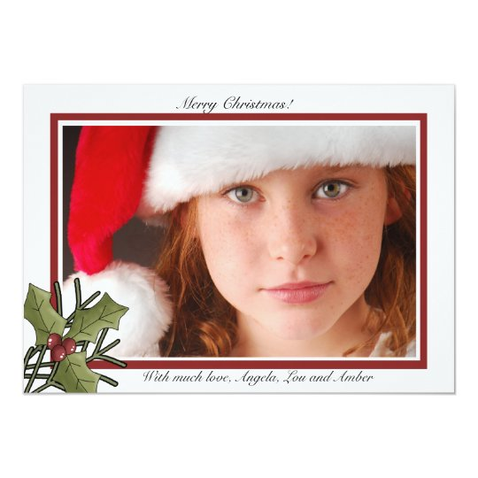Holiday Holly - Photo Holiday Card /Newsletter