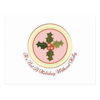 Holiday Holly Postcard