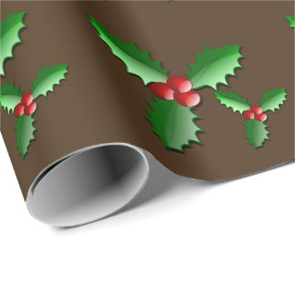 Holiday Holly Wrapping Paper