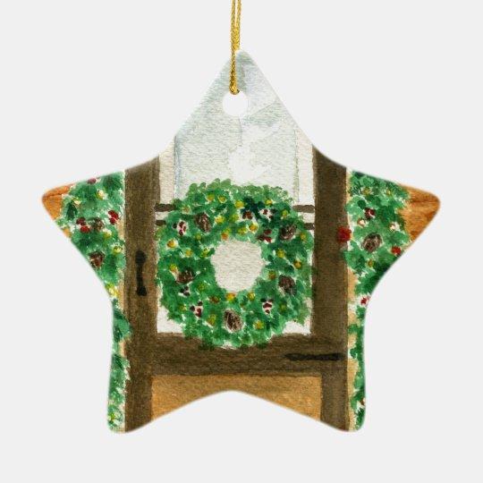 Holiday Home Ceramic Ornament
