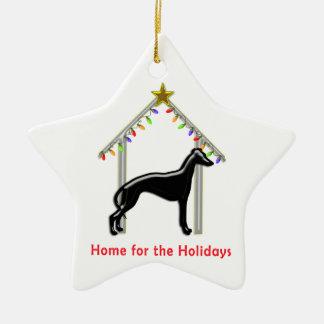 Holiday Home Logo Greyhound Xmas Christmas Ornament