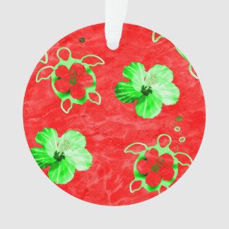 Holiday Honu Turtles Ornament