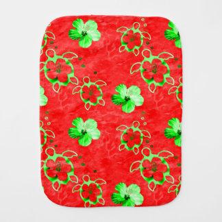 Holiday Honu Turtles Burp Cloth