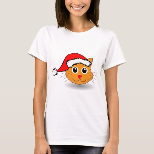 Holiday hoodie Christmas T Santa_cat