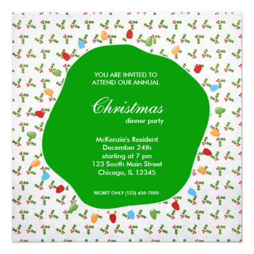 Holiday hoopla personalized invites