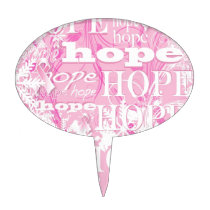 Holiday Hope Breast Cancer Awareness Products Cake Topper