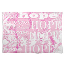 Holiday Hope Breast Cancer Awareness Products Cloth Placemat