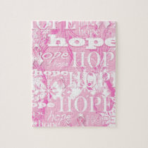 Holiday Hope Breast Cancer Awareness Products Jigsaw Puzzle