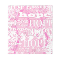 Holiday Hope Breast Cancer Awareness Products Notepad