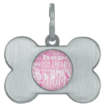 Holiday Hope Breast Cancer Awareness Products Pet Name Tag