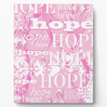 Holiday Hope Breast Cancer Awareness Products Plaque