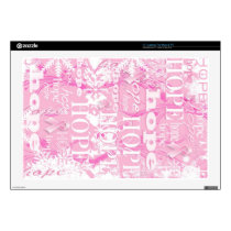 Holiday Hope Breast Cancer Awareness Products Skins For Laptops