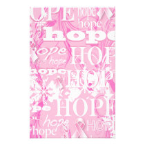 Holiday Hope Breast Cancer Awareness Products Stationery