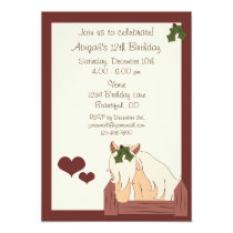 Holiday Horse Birthday Invitation