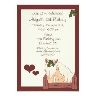 Holiday Horse Birthday Invitation