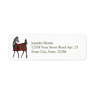 Holiday Horse Foal with Blanket Christmas Label