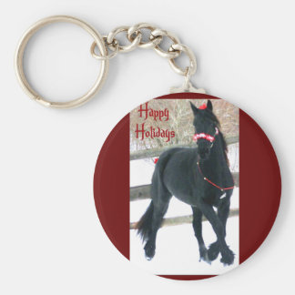 Holiday Horse Keychain