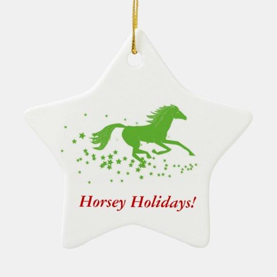 Holiday Horse Ornament: Horsey Holidays! Ceramic Ornament