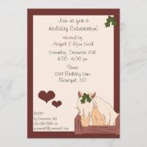 Holiday Horse Party Invitation