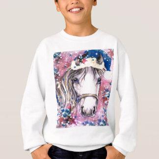 Holiday Horse Pink Design Sweatshirt