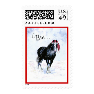 Holiday Horse Stamp