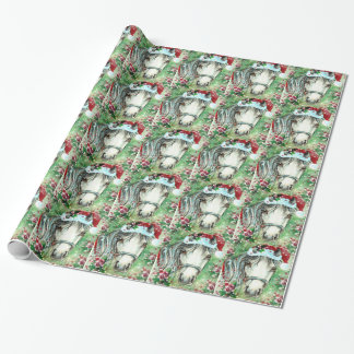 Holiday Horse With Santa Hat Wrapping Paper