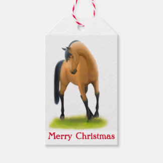 Holiday Horses Christmas Gift Tags
