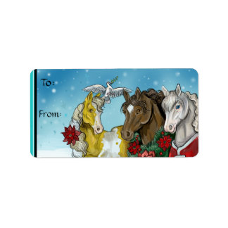 Holiday Horses~to and from stickers