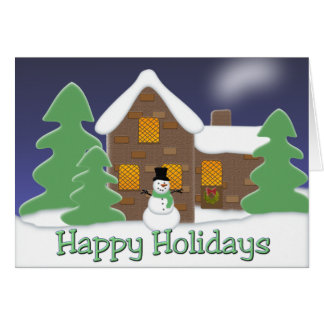 Holiday House Greeting Card