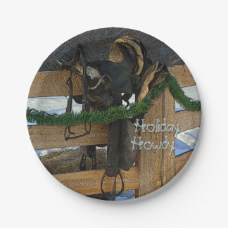 Holiday Howdy Country Christmas 7 Inch Paper Plate