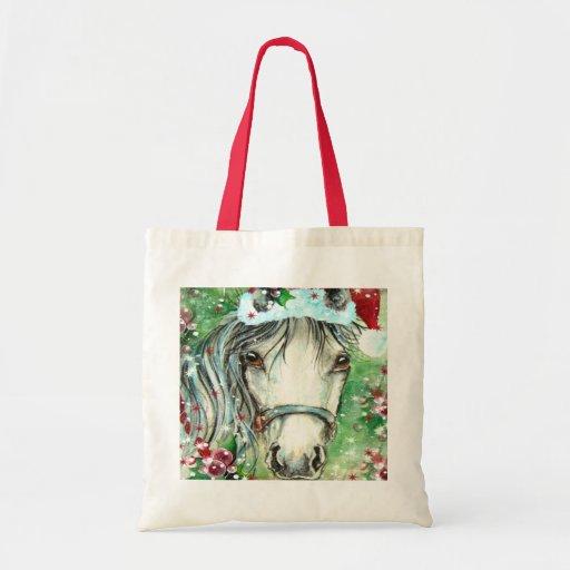 Holiday Hrose Green Bag