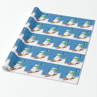 Holiday Humor Christmas Joke Funny Snowman Ski Wrapping Paper