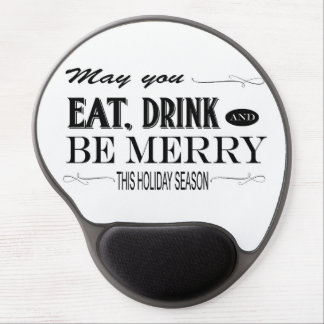 Holiday humor phrase gel mouse mat