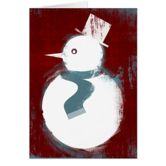 Holiday Icon - Snowman Card