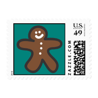 Holiday Icons Cartoon Gingerbread Man Postage