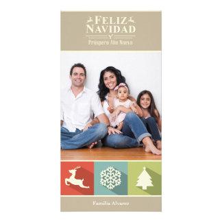 Holiday Icons Feliz Navidad (Beige) Card