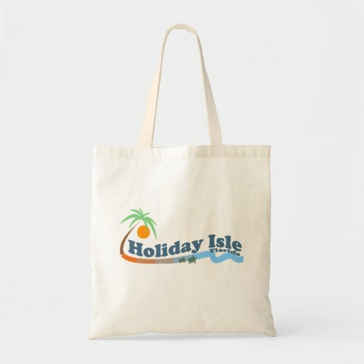 Holiday Isle. Canvas Bags