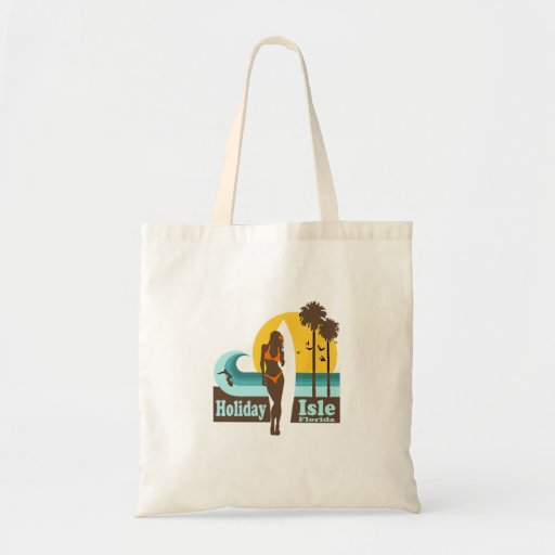 Holiday Isle. Tote Bags