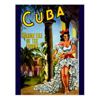 Holiday Isle of Tropics Cuba Vintage Travel Postcard