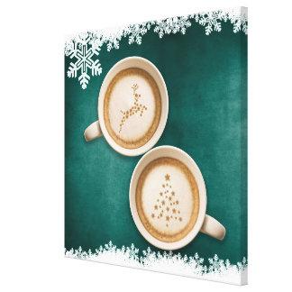 Holiday JAVA green Canvas Print