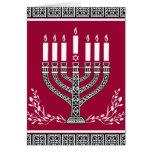 Holiday Jewish Background With Menorah Greeting Card