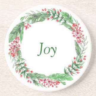 Holiday Joy Christmas Decor Drink Coaster