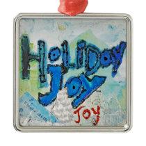 Holiday Joy - Christmas Ornament - art