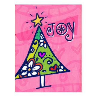 Holiday Joy Christmas Tree Postcard