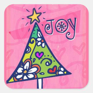 Holiday Joy Christmas Tree Stickers